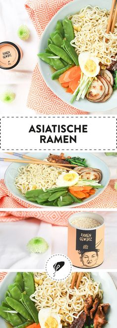 Asiatische Ramen Lunch Recipes, Good Food, Spices, Soup, Asian, Bread, Fruit, Vietnam, Dinners