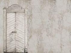 Papel pintado trompe l'oeil efecto muro KNOCK KNOCK Colección Life! 12 by Wall
