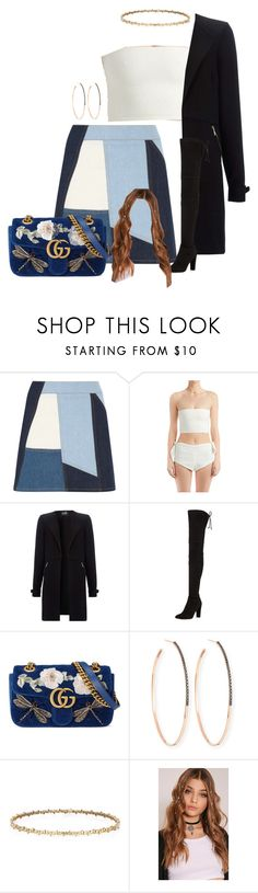 """""""Untitled #2856"""" by moxfordf ❤ liked on Polyvore featuring Victoria, Victoria Beckham, Stuart Weitzman, Gucci and Lana"""