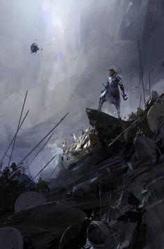 THE SUNSET MANTLE,cover illustration, richard anderson on ArtStation at https://www.artstation.com/artwork/kGgxA