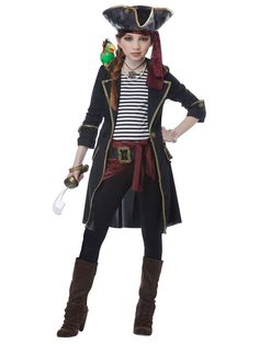 7485019389b11 Details about High Seas Buccaneer Girl - Child Pirate Costume. Captain  CostumeHalloween Costumes ...