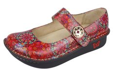 Alegria Paloma Red Bloom Mary Jane PAL-393 by Alegria Shoes. Email or call to order: info@50eastshoes.com 615-457-8944