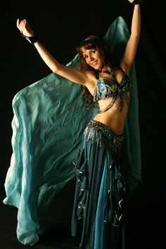 Teal belly dance