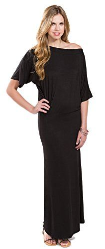 Go Couture Women's Boatneck Dolman Sleeve Maxi Dress S Black Go Couture http://www.amazon.com/dp/B00LBHHG2Q/ref=cm_sw_r_pi_dp_cAQ1ub0DH2CH2
