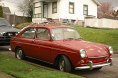 1969 vw fastback | OLD PARKED CARS.: 1969 Volkswagen Fastback.