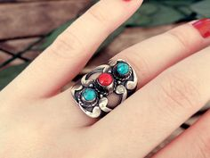 Greek ring summer ring multi stone ring open ring by CarmelaRosa