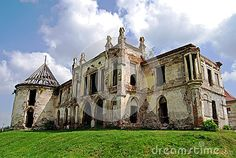 Photo about The ruin of the Baroque Bontida castle in Transylvania, near Cluj/Kolozsvar, Romania. The castle was built by the Banffy family. Image of fischer, building, erlach - 60666415 Scary Places, Haunted Places, Places Around The World, Around The Worlds, Dracula Castle, Castle Ruins, Romania, Travel Destinations, Europe
