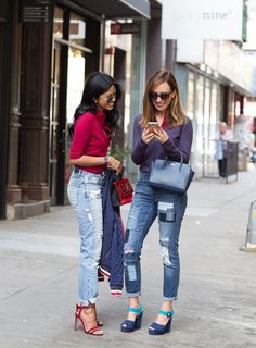 Cute and casual sporty outfit  Sporty Chic Polos And Denim At New York Fashion Week – Sydne Style