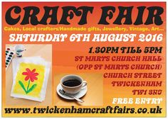 """Buy unique, buy handmade"" FREE ENTRY and all are welcome  www.twickenhamcraftfairs.co.uk"