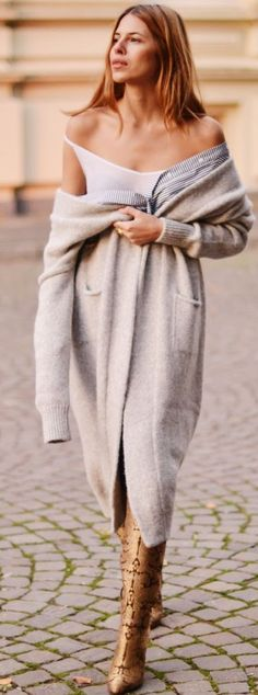 Nude Cardi Dress Fall autumn women fashion outfit clothing stylish apparel @roressclothes closet ideas