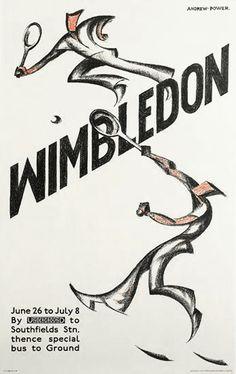 'Wimbledon, 1933'  By Sybil Andrews (1898 -1992)