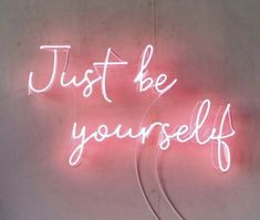 Just Be Yourself Real Glass Neon Sign For Bedroom Garage Bar Man Cave Room Home Decor Handmade Artwork Wall Lighting Includes Dimmer Baby Pink Aesthetic, Neon Aesthetic, Aesthetic Collage, Bedroom Wall Collage, Photo Wall Collage, Picture Wall, Pink Wallpaper Iphone, Aesthetic Iphone Wallpaper, Aesthetic Wallpapers