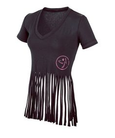 Take a look at this Black Vibrant V-Neck Top by Zumba® on #zulily today!