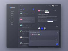 CRM Inbox - Dark Theme by Alper Tornaci on Dribbble Cool Web Design, App Design, Design Sites, Web Design Mobile, Site Web Design, Flat Design, Dashboard Interface, Dashboard Design, User Interface Design