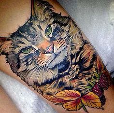cat tattoo art