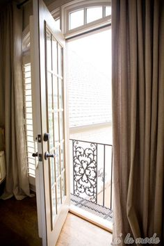 A La Mode; Juliet Balcony. Good morning sweet world! I want this.
