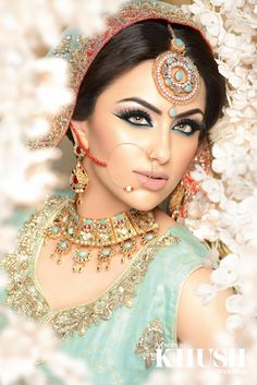 Bridal #Bridal Accesories  For the bride who wants all eyes on her! look no further than Raya Beauty flawless makeup for your big day   Contact Arfia T: +44(0)7903 405 250 W: RayaBeauty.co.uk E: info@RayaBeauty.co.uk Outfit: Revaaj Jewellery:NK Collection Flowers: flowerescent