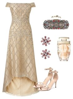 A fashion look from January 2018 featuring long-sleeve midi dresses, evening shoes and handbag purse. Browse and shop related looks. Party Gown Dress, Ball Gown Dresses, Dressy Outfits, Chic Outfits, Fashion Outfits, Expensive Clothes, Royal Dresses, Festa Party, Over 50 Womens Fashion