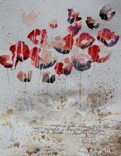 "Saatchi Art Artist Donatella Marraoni; Painting, ""Poppies XX"" #art"