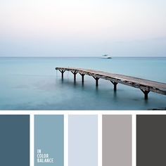 Calm sea palette