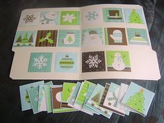 Wrapping paper file folder games...how neat to use these for those extra scraps and to practice matching!