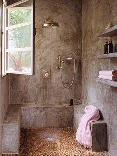 cement bathroom, industrial bathroom, resin bathroom
