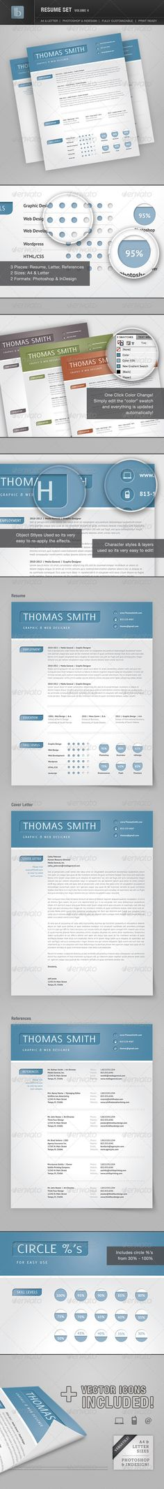 Junior Resume   Cv Template InDesign, INDD, MS Word A4 Resume - resume template indesign