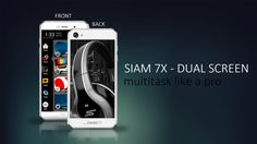 """Siam 7X Dual Screen Smartphone!!  5.0""""  HD Front Screen, and 4.7"""" Back Black and White Display 