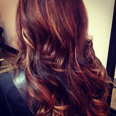 Mocha brown with red and golden blonde ♥