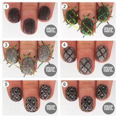 14 Colorful And Cool Nail Tutorials - Fashion Diva Design Bow Nail Designs, Animal Nail Designs, Black Nail Designs, Creative Nail Designs, Beautiful Nail Designs, Pretty Designs, Get Nails, Hair And Nails, Cherry Nails