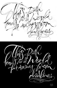 THE ART OF HAND LETTERING: Lettering Sketch for Word Far Away