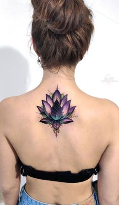 Cover Up Tattoos For Women, Neck Tattoos Women, Best Tattoos For Women, Tattoo Women, Woman Back Tattoos, Cover Up Back Tattoos, Flower Cover Up Tattoos, Back Of Neck Tattoos For Women, Girl Neck Tattoos