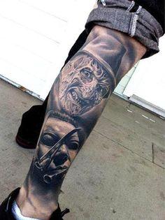 Realism Horror Tattoo by Nikko Hurtado - http://worldtattoosgallery.com/realism-horror-tattoo-by-nikko-hurtado-5/