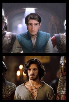 Somebody else saw it too!!  Gwaine and Flynn are like the exact same guy!