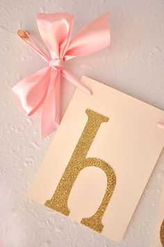 Pink and Gold Birthday Party Decorarations by courtneyorillion
