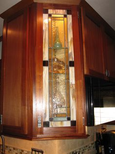 Stained Glass Door my friend made in her kitchen.