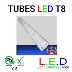 Bloc support double tube led 60w