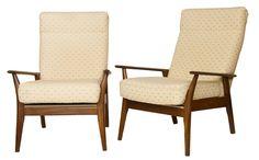 Pair of Vintage Danish Teak Armchairs