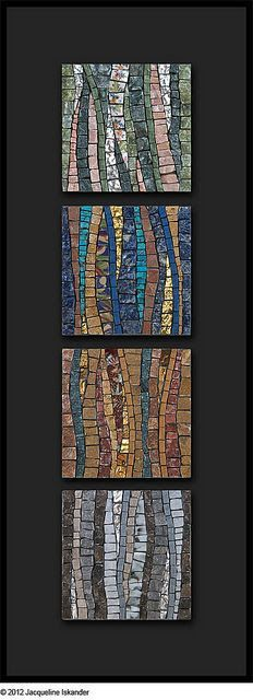 No Such Thing As Time by Jacqueline Iskander, mosaic Mosaic Tile Art, Pebble Mosaic, Mosaic Crafts, Mosaic Projects, Stone Mosaic, Mosaic Glass, Stained Glass, Mosaic Mirrors, Mosaic Pots
