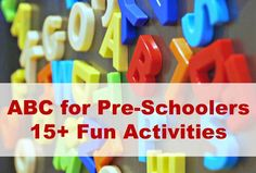 """Make ABC learning fun (and passive!).. esp great during that summer holiday """"learning dip""""..."""