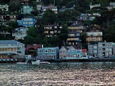 Sausalito at Dusk  Lights appear in downtown buildings while a classic fishing boat waits in the anchorage. Fabulous town!!!