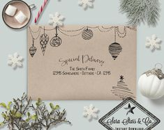 need holiday Christmas Envelope Template Modern Calligraphy Contemporary Calligraphy Envelope, Envelope Art, Envelope Design, Modern Calligraphy, Envelope Writing, Envelope Templates, Mail Art Envelopes, Addressing Envelopes, Christmas Mail