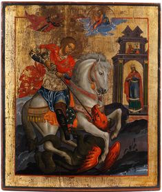 Discover recipes, home ideas, style inspiration and other ideas to try. Renaissance Kunst, Saint George And The Dragon, Religious Paintings, Byzantine Icons, Fine Art Auctions, Albrecht Durer, Catholic Art, Orthodox Icons, Angel Art