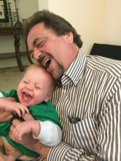 Jay and grandson Grayson giggle!!