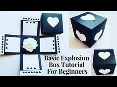 DIY Infinity Explosion box step by step tutorial / Valentines Day Gift Box /Useful Creations Diy Gift Box, Easy Diy Gifts, Diy Box, Exploding Box For Boyfriend, Birthday Explosion Box, Birthday Box, Birthday Gifts, Happy Birthday, Explosion Box Tutorial