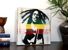 You can prop up on a mantle, a book shelf or simply hang on your wall. This wall art piece will most certainly add personality and character to your home, especially if you love Bob Marley and his wonderful reggae music.