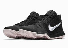1f783d1e37d Details about Nike Kyrie 3 Mens Basketball Shoes 11.5 Black White Silt Red