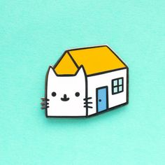 Two of my favorite things combined in one cute as a button hard enamel pin!  Measurements are (width x length) 1 x 1,2 inch or 2,5 x 3 cm. Comes on card backing.  PLEASE NOTE that Im located in the Netherlands so standard (no tracking) international shipping can take up to 5 weeks. Tracked items usually arrive a bit quicker. For more info check my FAQ. Shipment options can be found at the check out. If you have any questions please check my FAQ or feel free to send me a convo! ♥