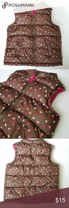 Old Navy Heart Vest Old Navy Brown Puffy Heart Vest  Size 4T  No stains or tears  Bundle in my closet and save! Old Navy Jackets & Coats Vests