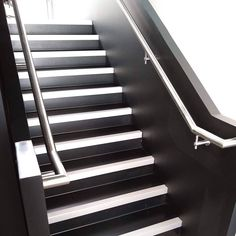 Best A Steel Staircase With Stainless Steel Handrails And Pan Treads Filled With Concrete All 400 x 300